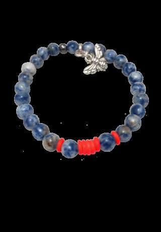 Bracelet Litlle Max-  Sodalite Orange Fluo