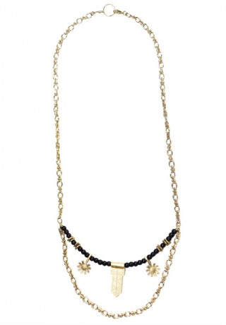 Collier court DAISY NOIR