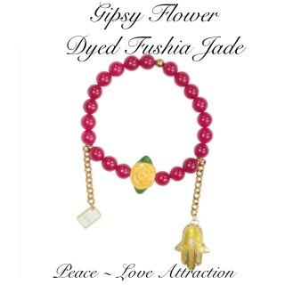 GIPSY FLOWER - DYED FUSHIA JADE