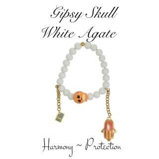 GIPSY SKULL - WHITE AGATE