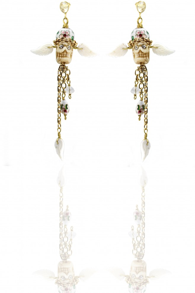Earrings White Nua