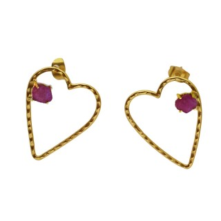 Earrrings Crush- Rough Ruby