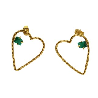 Earrrings Crush-Malachite