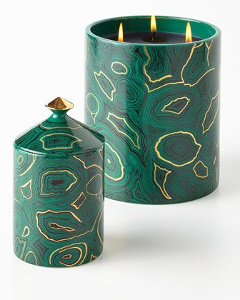 fornasetti luxe candle nadka malachite