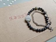 Double tour bracelet HAPPY- Labradorite