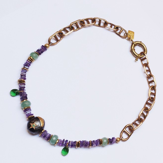 LUNA Necklace - Amethyst