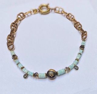 LUNA Necklace - Baby blue opal