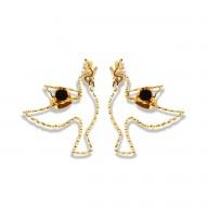 Tiny Paloma Earrings- Black tourmaline
