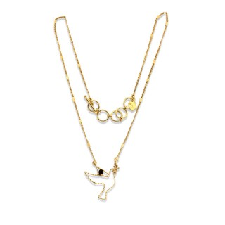 Short necklace - TINY PALOMA 40 - Black Tourmaline