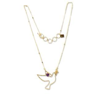 Short necklace - PALOMA 40 - Améthyst