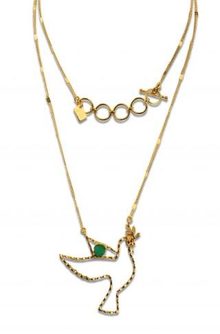 Long necklace - PALOMA 70 - Green onyx