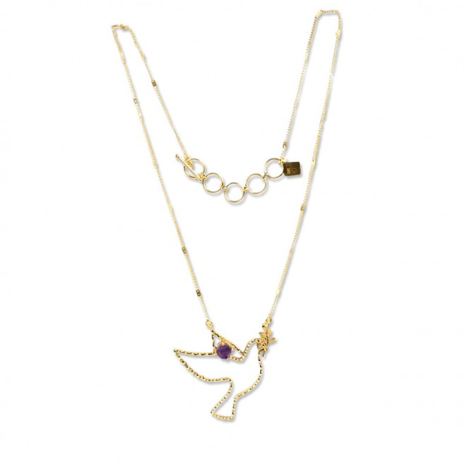 Long necklace - PALOMA 70 - Amethyst