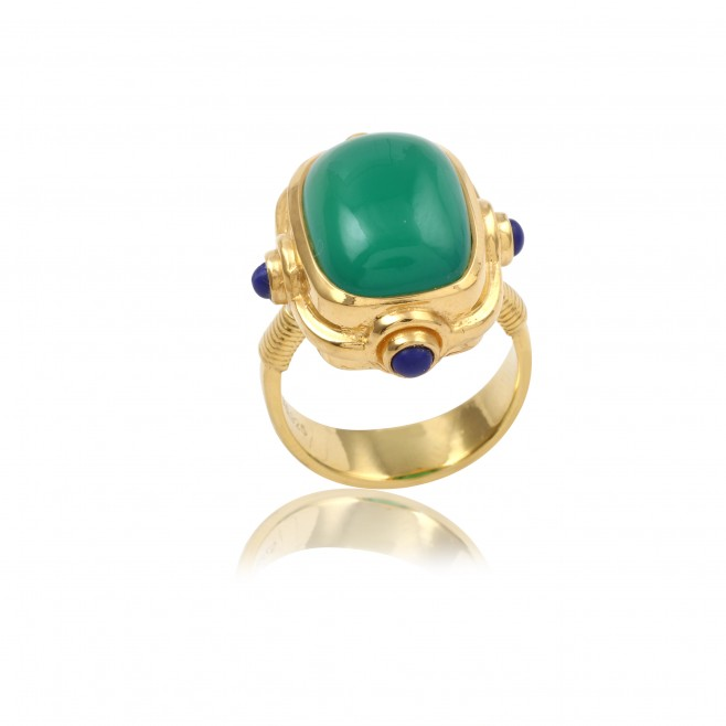 Victoria- Green onyx / lapis lazuli