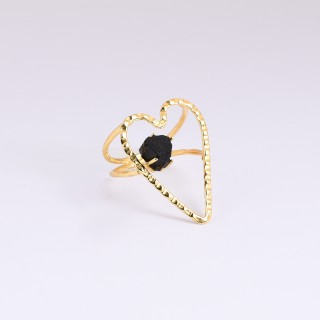 RING CRUSH - Black Tourmaline