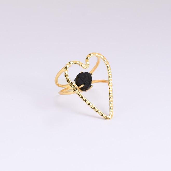 RING CRUSH - Black Tourmaline