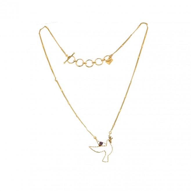 Short necklace - TINY PALOMA 40 - Amethyst
