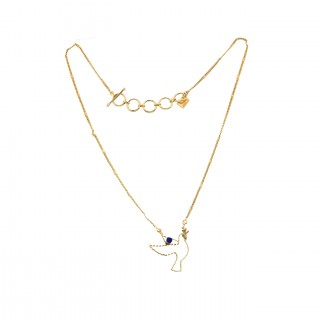 Short necklace - TINY PALOMA 40 - Lapis lazuli