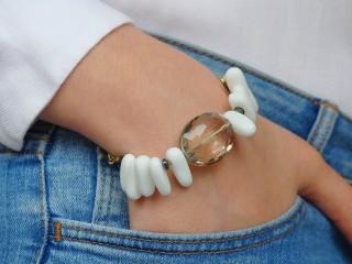 Bracelet CHIKI - Agate blanche