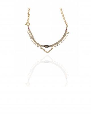 Short necklace Mini DAZZLE- Pierre de Lune