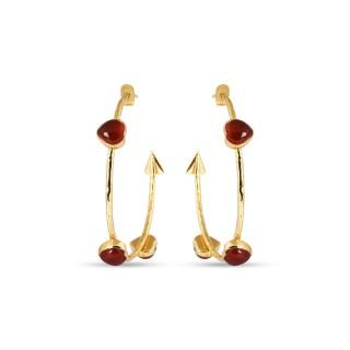 Earrings FARANDOLE - cornalline