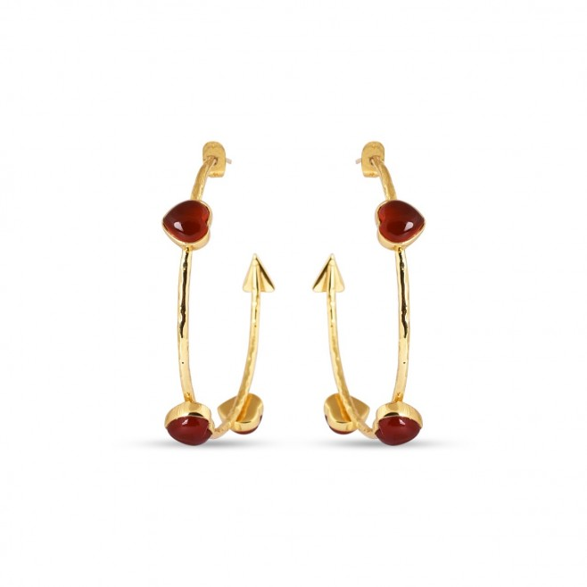 Boucles d'oreilles FARANDOLE - Cornaline