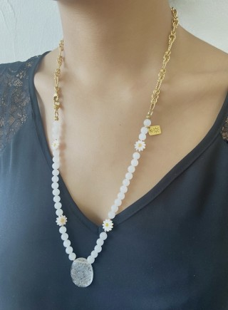Lily Necklace - Moonstone