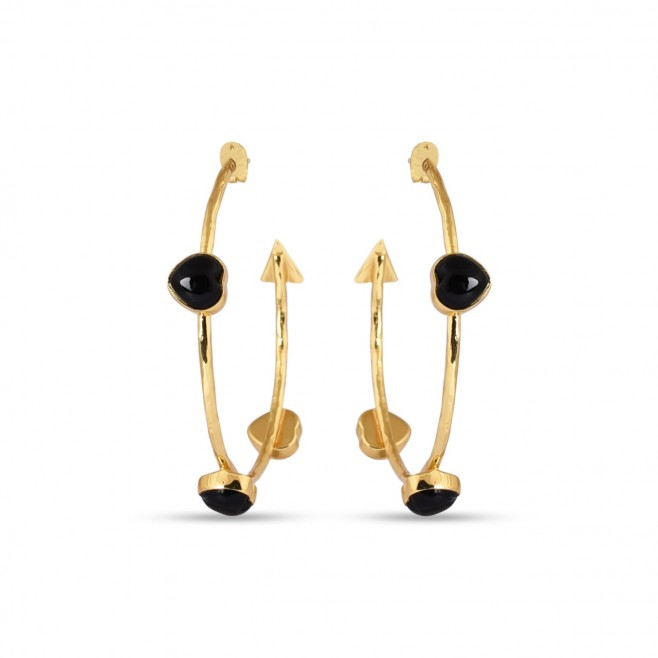 Boucles d'oreilles FARANDOLE - Onyx noir