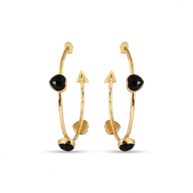 Earrings FARANDOLE - Black Onyx