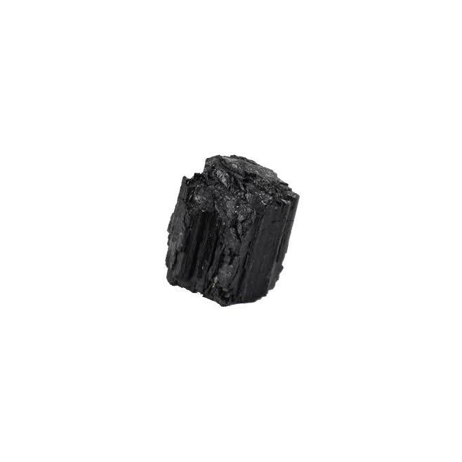 Long necklace Silver plated- PALOMA 40 - Black Tourmaline