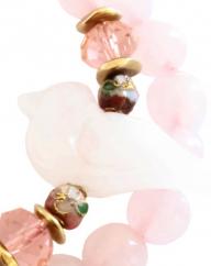 Double Tour White Bird - quartz rose