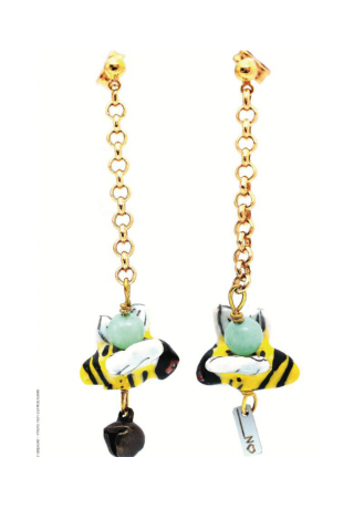 Earrings BEE - Aventurine