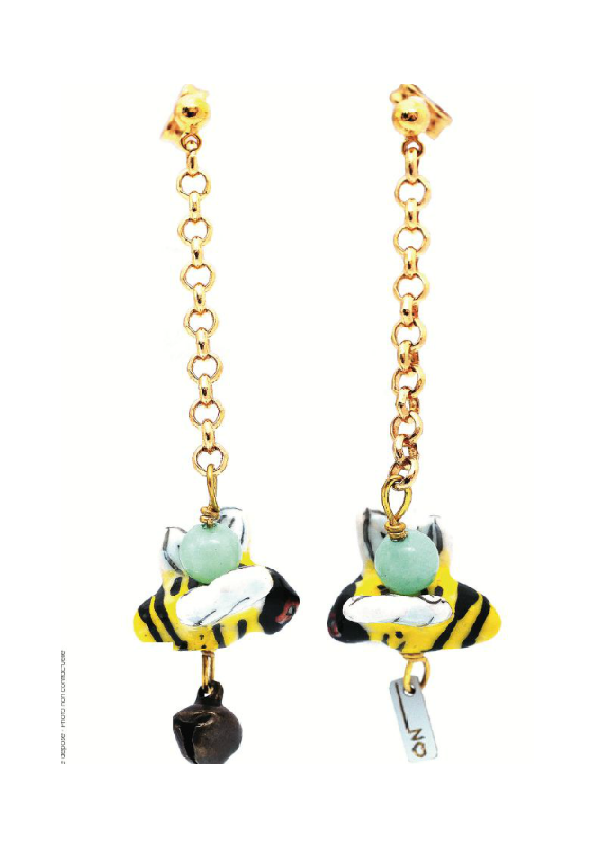 Earrings BEE - Aventurine