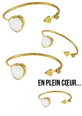 """Bracelet Jonc """"En plein Coeur"""""""