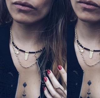 BLACK DAISY  Short necklace