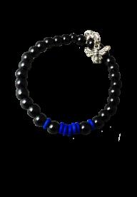 Bracelet Litlle Max-  HEMATITE/ BLEU ELECTRIQUE