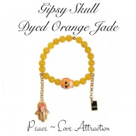 GIPSY SKULL - DYED ORANGE JADE