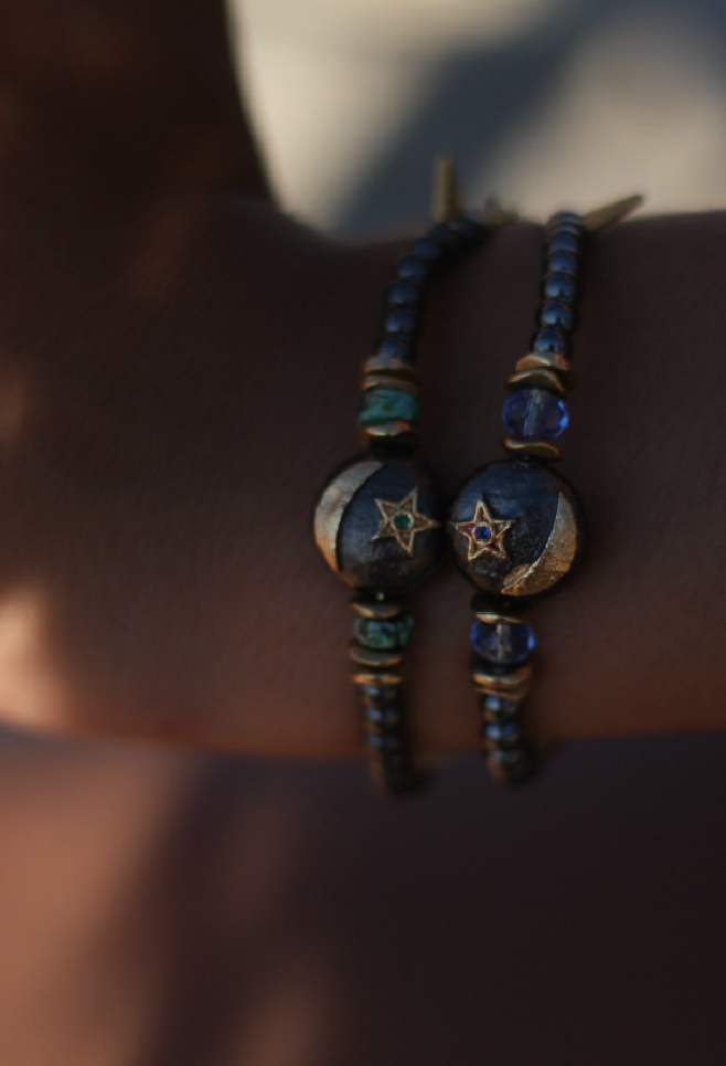 Bracelet satelitte MOON- BLUE