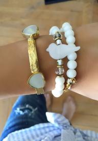 Bracelet  Jonc FALL IN LOVE - Nacre